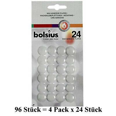 96 Stück Bolsius Wachsplättchen Klebeplättchen Kerzenplättchen Klebepunkte