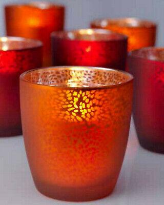 12 x Duni Kerzenhalter 90x85mm Teelichthalter Kerzenglas Touch Mandarin-Silber