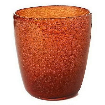 12 x Duni Kerzenhalter 105x90 mm Teelichthalter Kerzenglas Raindrops Mandarin