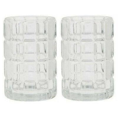 6 Stück Duni Kerzenhalter 120x75 mm Kerzenglas Teelichthalter Scacchi Clear
