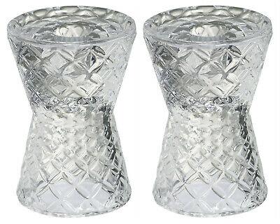2 x Bolsius Kerzenhalter 121x85 mm Kristall Glas Kerzenständer Leuchter Klar