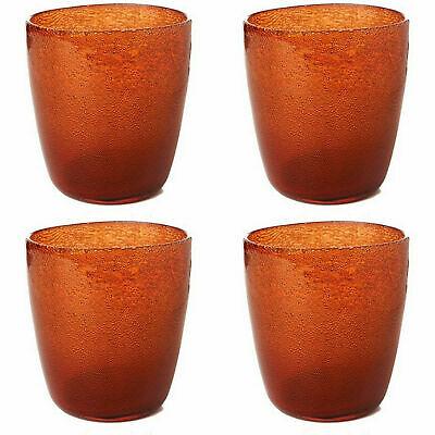 8 x Duni Kerzenhalter 105x90 mm Teelichthalter Kerzenglas Raindrops Mandarin
