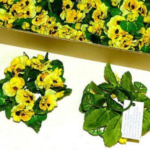 12 Stück Kerzenringe Kerzenkranz STIEFMÜTTERCHEN Blumenkranz Blumenring