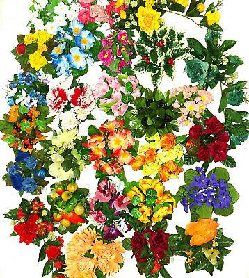 20 Stück Kerzenringe Kerzenkranz Mix bunt gemischt Blumenkranz Blumenring