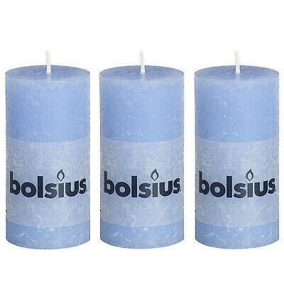 8 Stück Bolsius Rustic Stumpenkerzen 100x50 mm Rustik Qualitäts-Kerzen Candle