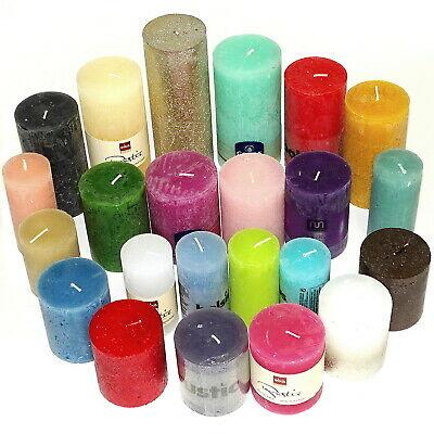 6 kg Rustic Stumpenkerzen durchgefärbt Rustik Kerze 1 Wahl Kerzen bunt gemischt