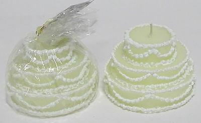 2 bis 6 Stück Deko Kerzen Tortenform Ø 90 mm Geschenk Torte Hochzeit Dekokerze - 2 Stück