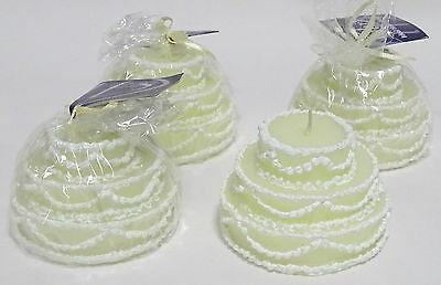 2 bis 6 Stück Deko Kerzen Tortenform Ø 90 mm Geschenk Torte Hochzeit Dekokerze - 4 Stück