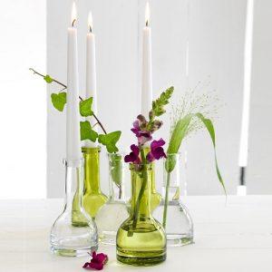 Duni Glas Kerzenhalter grün