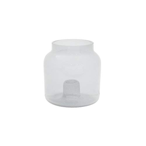 Duni Kerzenhalter/Vase Double Klar Ø 9,5 cm h 9 cm für Leuchterkerzen oder als Vase (4 Stück)
