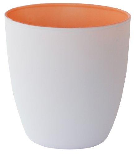 Duni Kerzenhalter Poppie weiß/soft mandarin 90x85mm 6er Set, Tischdekoration Kerzenhalter weiß-soft mandarin, Windlicht weiß orange, Duni Kerzenglas Poppie weiß/soft orange, Kerzenglas weiß, Tischdeko Hochzeit, Tischdeko orange