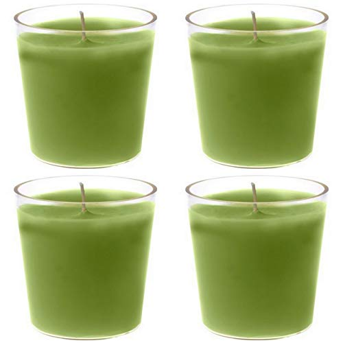 Duni 12 Stück Nachfüller Switch & Shine Ø 65 x 65mm 30h Kerze Acryl Cup Nachfüll-Lichte Refill Herbal Green Kerzen für Deko-Gläser, Kerzenglas