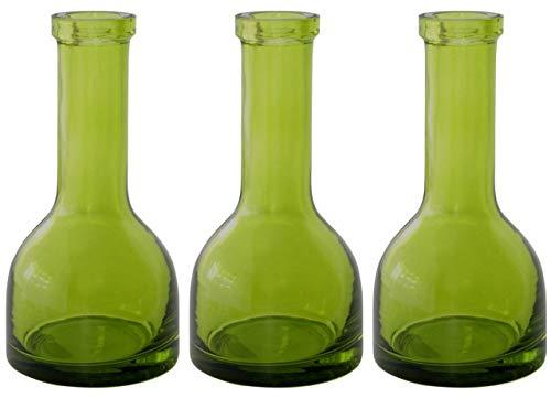 12 Stück Kerzenhalter & Vase Bote 150 x 75mm Glas Green Kerzenständer Kerzenleuchter Deko
