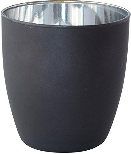 Duni Kerzenhalter Poppie schwarz/silber, 90 x 85 mm, 6 Stück