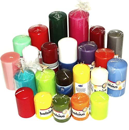 6 kg Qualität Stumpenkerzen Paket farblich bunt gemischt Stumpen Kerzen 1. Wahl
