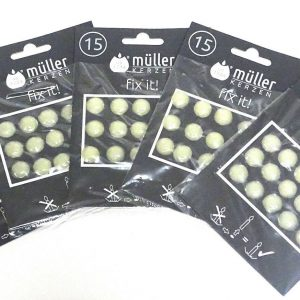 75-150 Stück Wachsplättchen Klebeplättchen Kerzenplättchen Klebepunkte für Kerze - 75 Stück = 5 Pack x 15 Stück