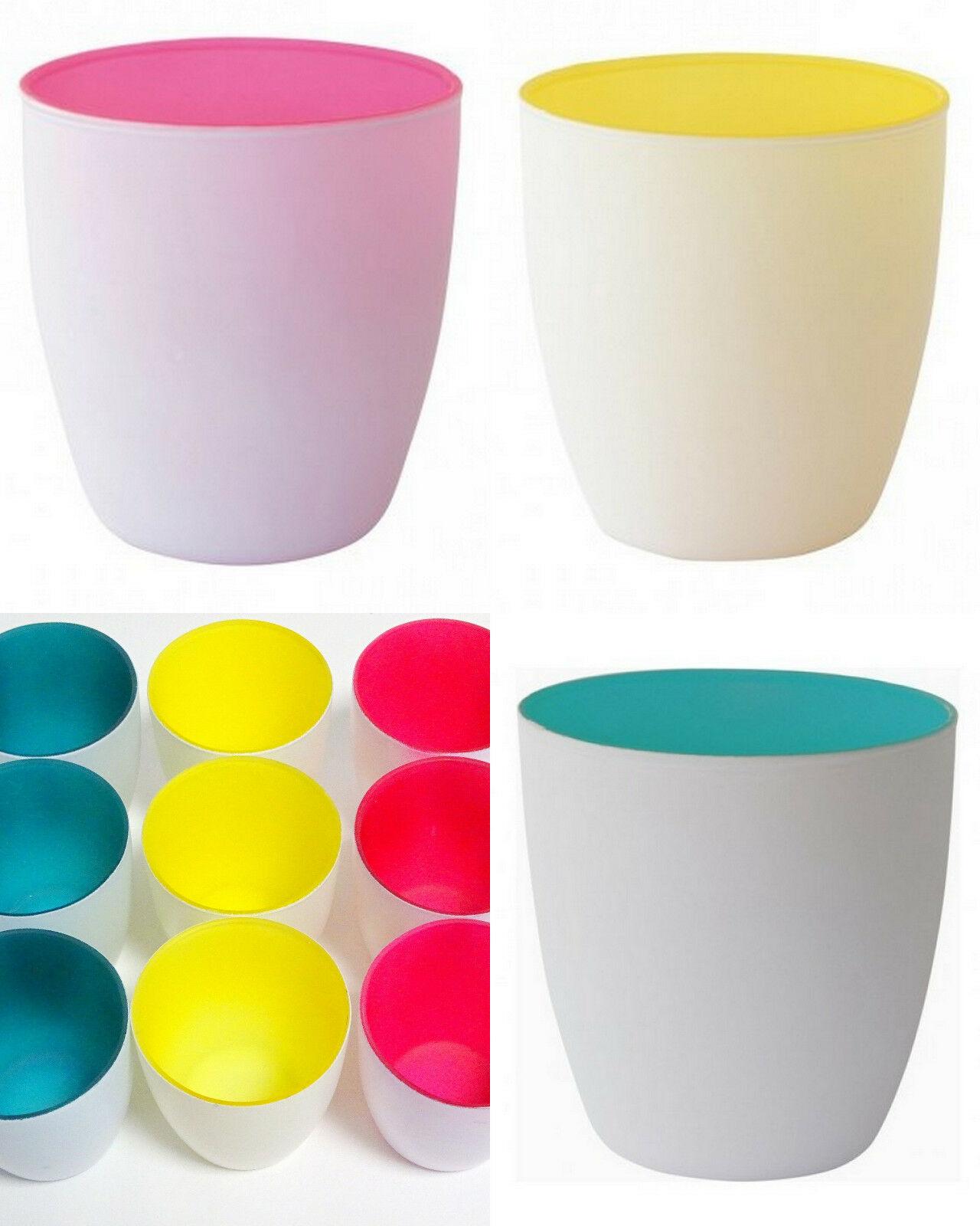 20 Kerzenhalter Teelichthalter 85x90mm Maxilichtglas Votivglas Kerzenglas B-Ware - MIX (Pink/Gelb/Türkis), 20 Stück