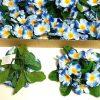 12 Stück Kerzenringe Kerzenkranz PRIMELN Blumen Ring Blumenkranz Tischdeko   - Blau