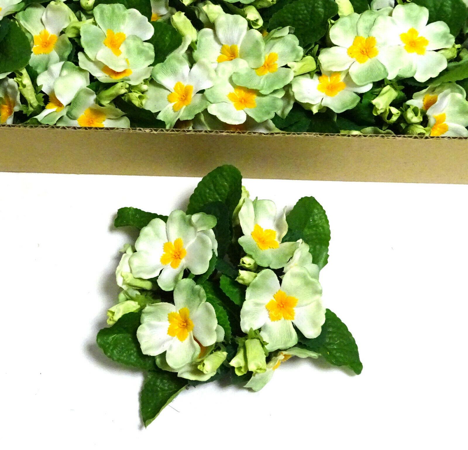 12 Stück Kerzenringe Kerzenkranz PRIMELN Blumen Ring Blumenkranz Tischdeko   - Grün