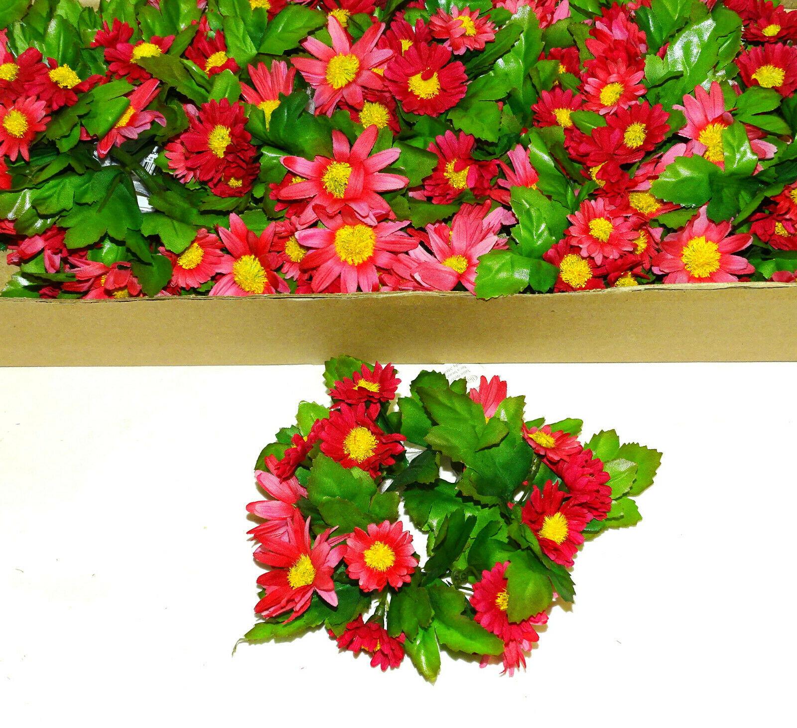 12 Stück Kerzenringe Kerzenkranz ASTER Blumen Ring Blumenkranz Tischdeko