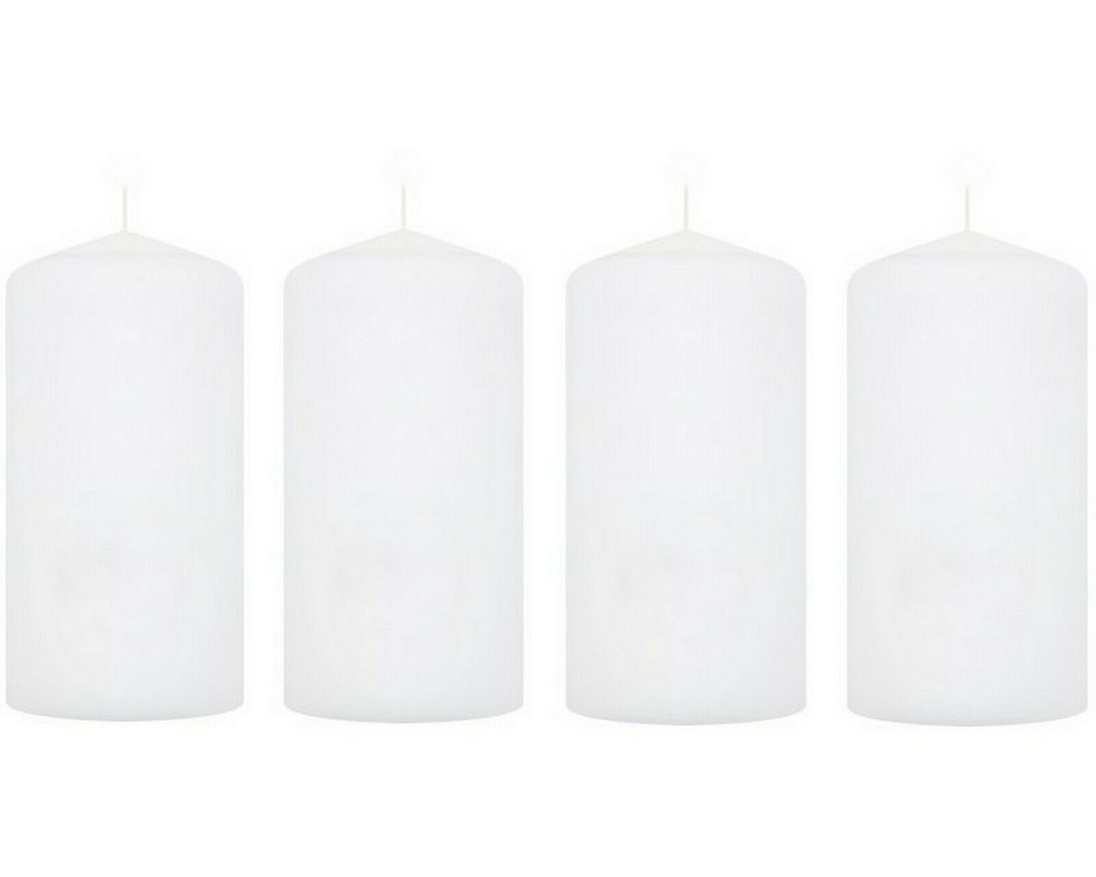 2-4 Stück Stumpenkerzen Groß 200 x 100 mm Stumpen Kerzen Wachs Windlicht Weiß