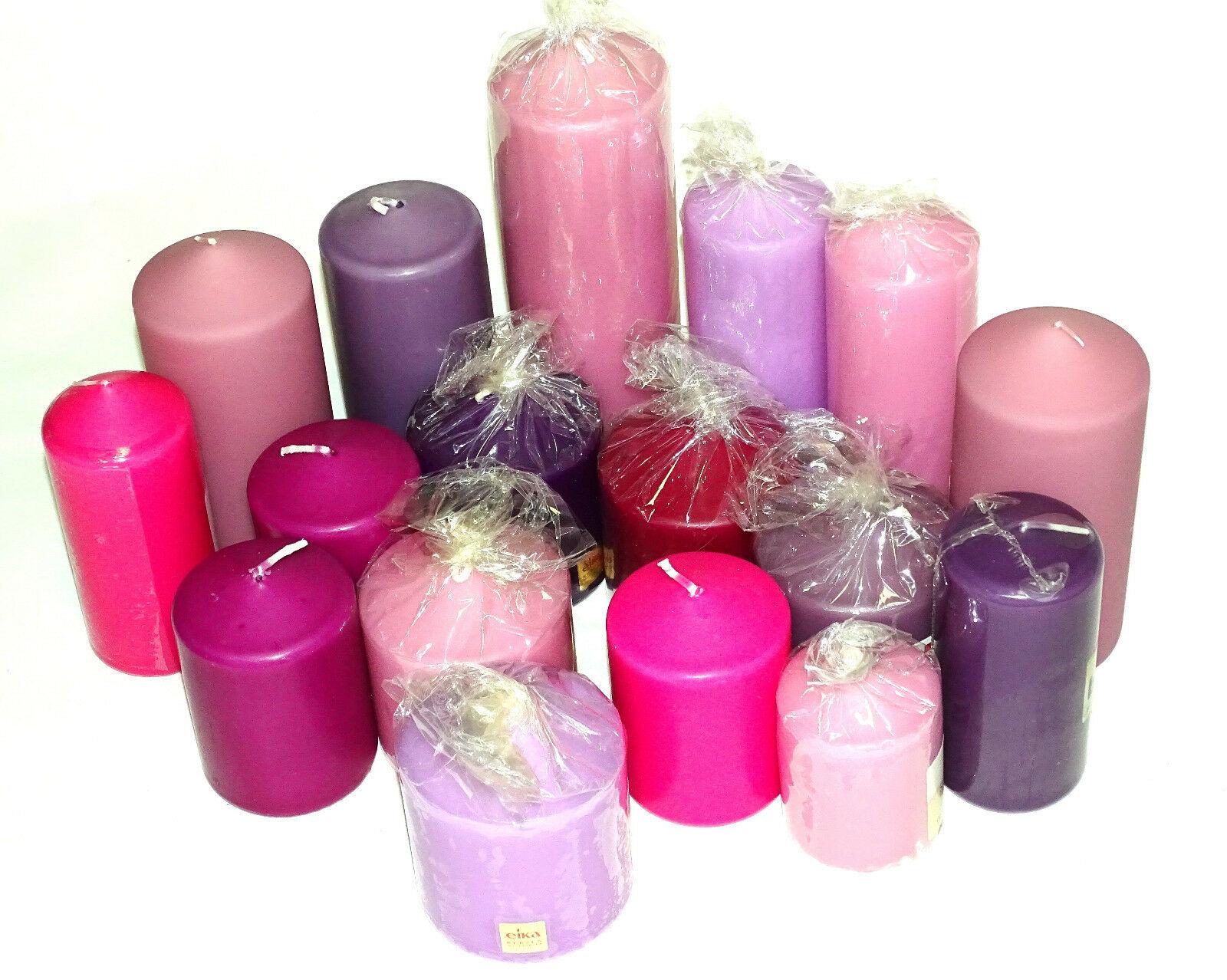 5 kg Qualität Stumpenkerzen Paket Kerzen Set Tischdeko gemischt nach Farben