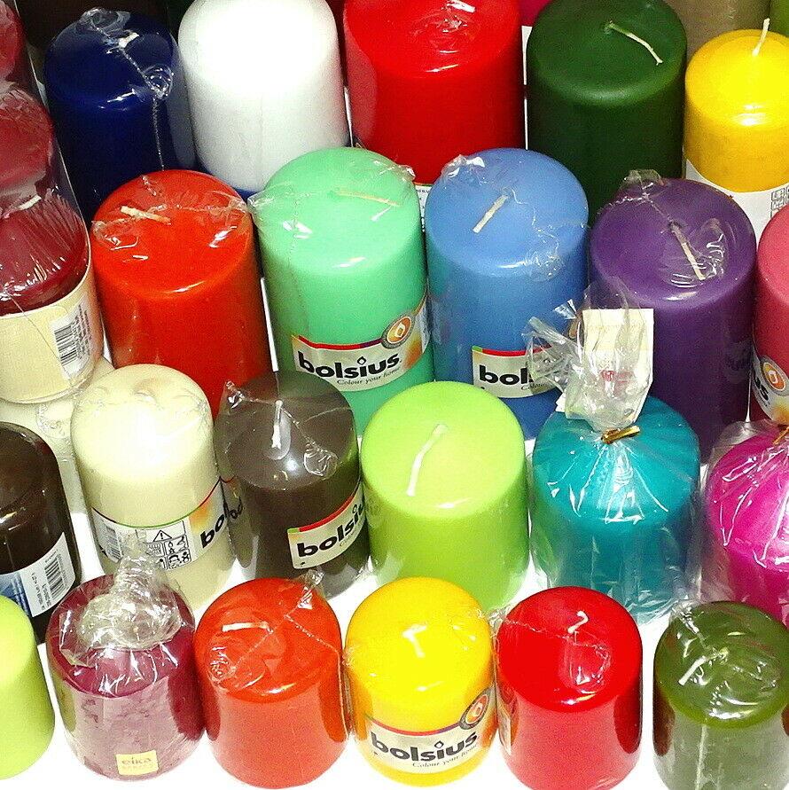 5 bis 12 kg Qualität Stumpenkerzen farblich bunt gemischt Stumpen Kerzen 1 Wahl - 6 kg