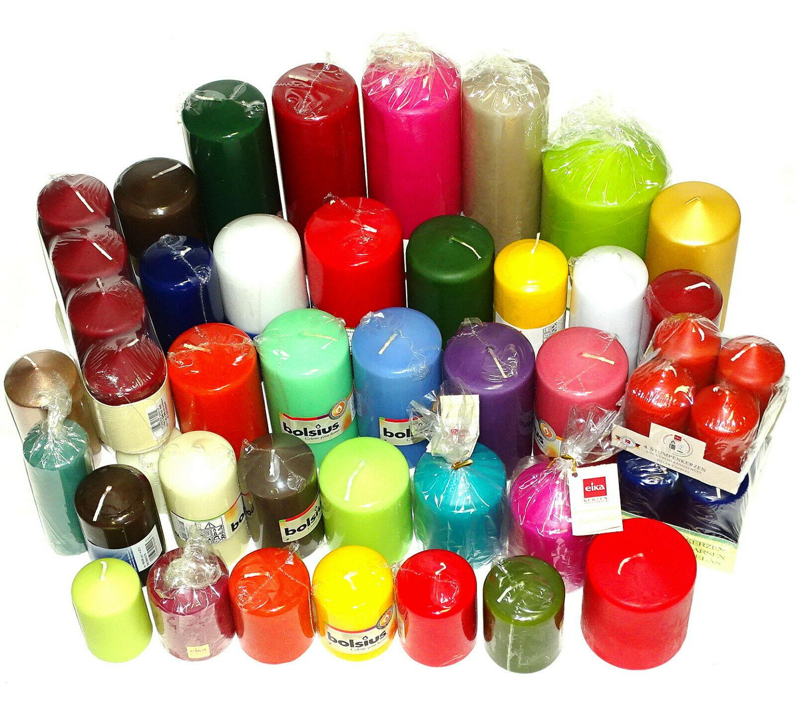 5 bis 12 kg Qualität Stumpenkerzen farblich bunt gemischt Stumpen Kerzen 1 Wahl