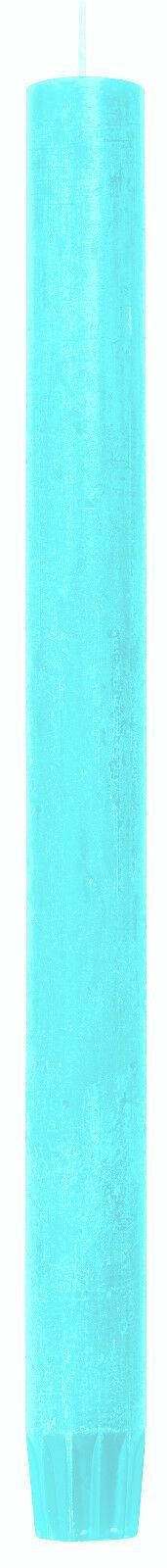 24 Stabkerzen Tafelkerzen Rustic Kerzen Groß 270 x 23 mm durchgefärbt 0,65€/Stk. - Mint 69