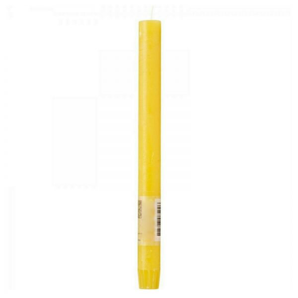 24 Stabkerzen Tafelkerzen Rustic Kerzen Groß 270 x 23 mm durchgefärbt 0,65€/Stk. - Gelb
