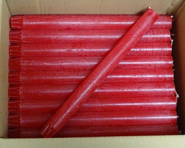 20 Stabkerzen Tafelkerzen Rustic Kerzen 270 x 23 mm durchgefärbt 0,65 €/Stück - 20 x Rot