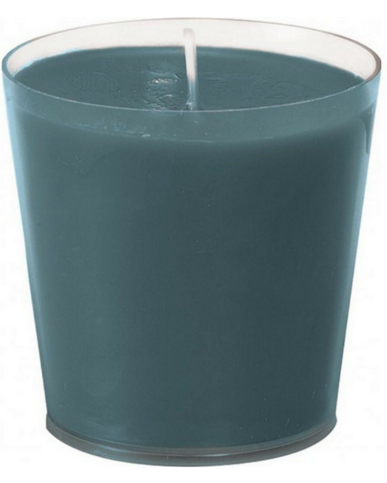 6-12 Stück Nachfüller Kerze 65 x 65mm 30h Acryl Cup Refill Wachs für Kerzenglas - Blau-Grau, 12 Stück