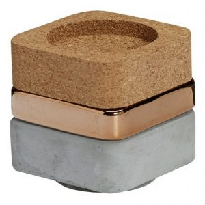 3er Set Kerzenhalter stapelbar 96x91mm Kerzenständer Rustic Kerzenleuchter - Kupfer
