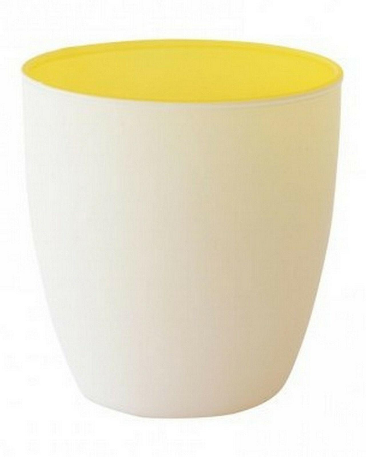 20 Kerzenhalter 85x90mm Maxilichtglas Teelichthalter Kerzenglas Weiß in 3 Farben - Gelb