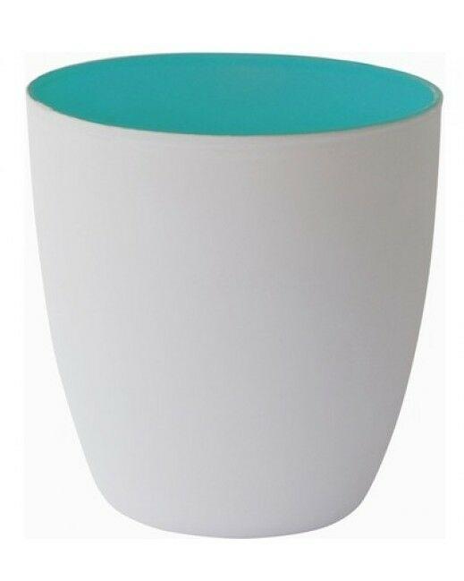 20 Kerzenhalter 85x90mm Maxilichtglas Teelichthalter Kerzenglas Weiß in 3 Farben - Aqua-Türkis