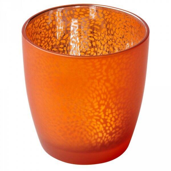 6-12 Duni Kerzenhalter Teelichthalter 90x85 mm Kerzenglas Touch Mandarin-Silber - 6 Stück