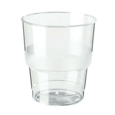 150 Stück Gläser Plastikbecher 0,2 L Trinkglas Einwegbecher Einweg Glas klar