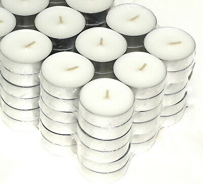 72 Stück Maxi Teelichter 7 Stunden 6 x 2 cm Jumbo Maxi-Lichter Weiß
