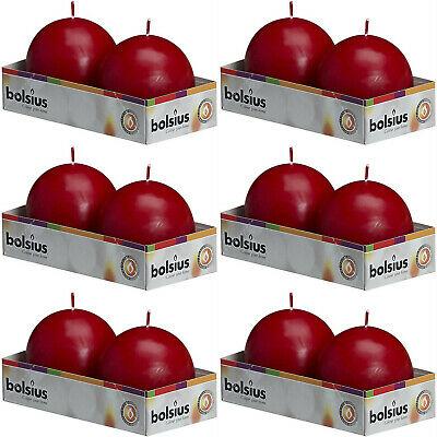 20 Stück Bolsius Kugelkerzen 70 mm Ball Kugelkerze (10 Pack x 2er) Altrot