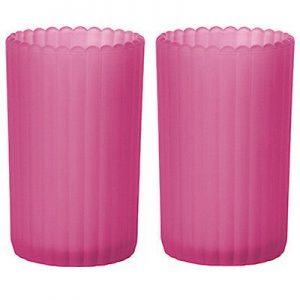 6 Stück Kerzenhalter 125x75 mm Kerzenglas gefrostet Maxilichtglas Teelichthalter