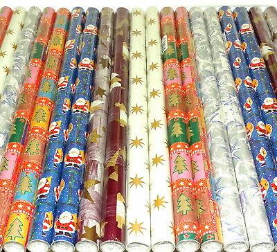 150 m Geschenkpapier 50 Rollen je 3 m x 70cm Weinachten Mix Weihnachtspapier