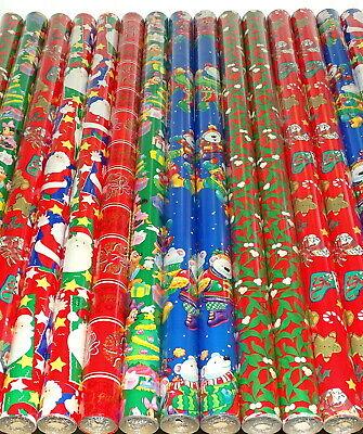 144 m Geschenkpapier 48 Rollen je 3 m x 92cm Weinachten Mix Weihnachtspapier