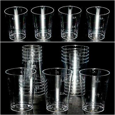 400 Stück Einweg Schnapsgläser 50 ml, Eichstrich: 4 cl /2 cl Kunststoff glasklar