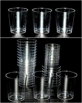 500 Einweg Schnapsgläser 30ml, mit Eichstrich 2 cl Kunststoff Plastik glasklar