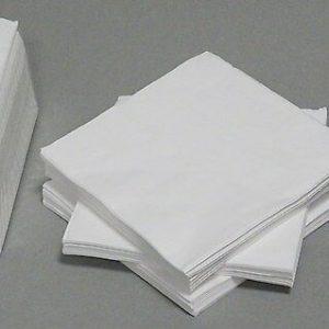 200-400 Stück Servietten 40x40 cm 3-lagig Papier Tissue-Qualität Tischdeko Weiß - 200 Stück = 2 Pack. x 100 Stück