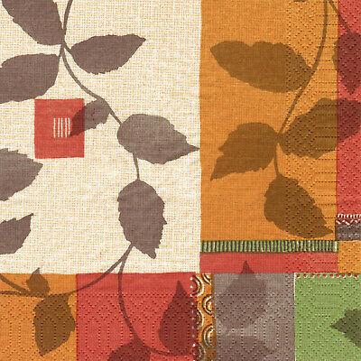 1.000 Duni Servietten 33 x 33 cm 3-lagig Tissue-Qualität Herst Braun-Grün-Orange
