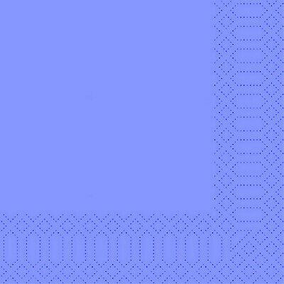 1.200 Stück Servietten 33x33 cm 3-lagig Tissue-Qualität hellblau Blue Tischdeko
