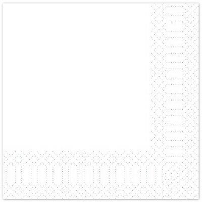 1.200 Stück Zellstoff Servietten 33x33 cm  2-lagig Tissue-Qualität Papier Weiß