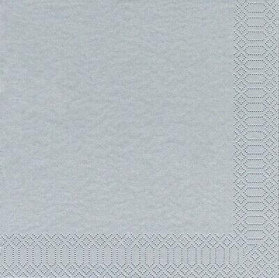 160 Stück Zellstoff Dinner Servietten 3-lagig 40x40 cm Tissue-Qualität Silber