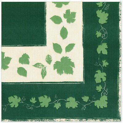 150 Stück Dunilin Servietten 40x40 cm Herbstflair Grün stoffähnlich Stoffoptik